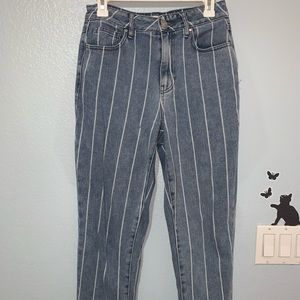 pacsun striped mom jeans